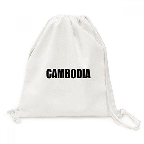 DIYthinker Kambodscha Land Name Schwarz Canvas-Rucksack-Reisen Shopping Bags
