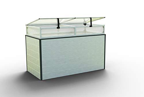 GFP Christina Aluminium Hochbeet für den Garten - 150x77x77cm, formstabil und witterungsbeständig auch bei Hagel mit Aluminium-Hohlkammerprofilen, Verschiedene Sets vorhanden - Made in Austria