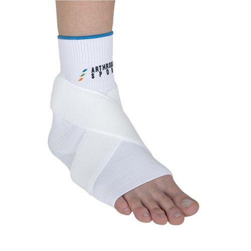 arthrosan ASSZ40 Sprungelenksbandage mit Stabilisierungszügel/ weiß L