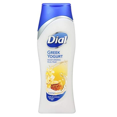 Dial Body Wash, Greek Yogurt Vanilla Honey with Moisturizers, 16 Fl Oz (Pack of 6)