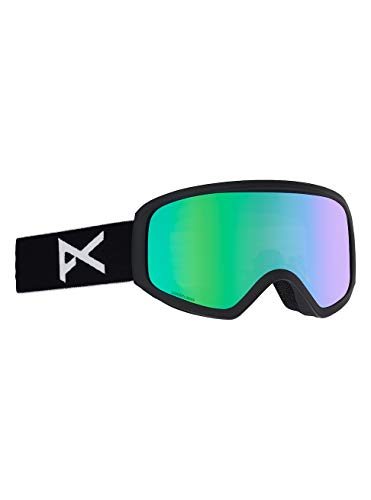 Anon Damen Insight with Spare Snowboardbrille, Black/Green Solex
