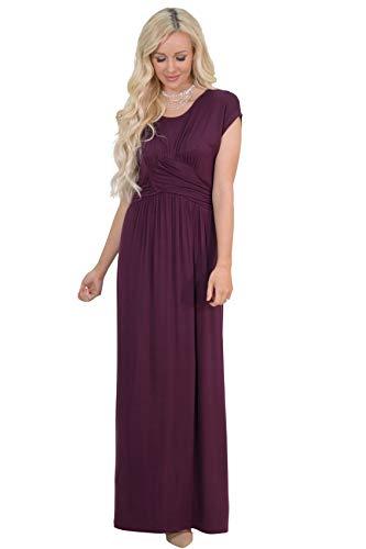 Athena Modest Maxi Dress in Deep Plum Purple or Burgundy Plum - L, Modest Bridesmaid Dress in Dark Purple