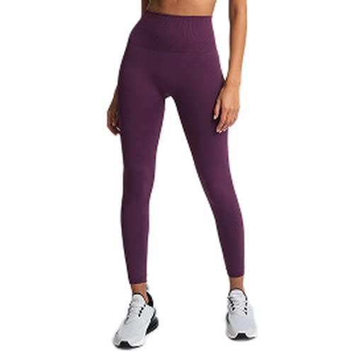 QTJY Medias de Fitness, Pantalones de Yoga para el Vientre sin Costuras, Cintura Alta, de Secado rápido, sin Costuras, Pantalones para Correr, Mujeres KS