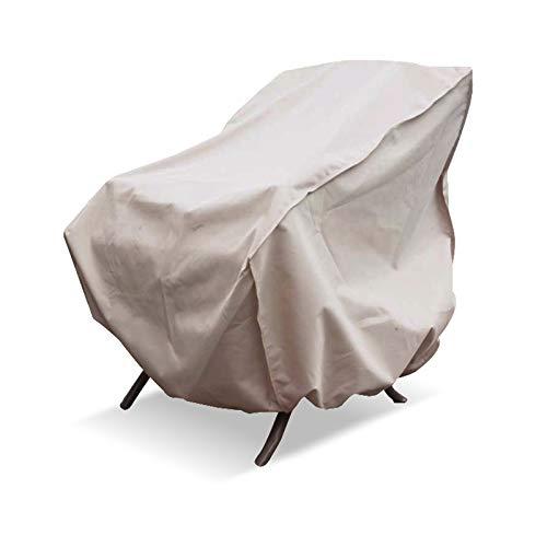 Retour Haut Patio Chaise Couverture Imperméable Robuste Seat Cover Extérieur Pelouse Meubles De Patio Couvre Chatain 83,8 * 88,9 * 91,4 Cm (33 * 35 * 36In)