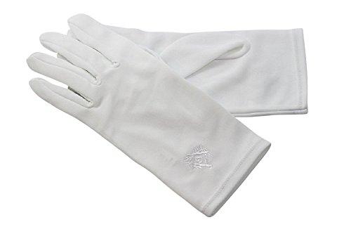 Gants blancs en nylon broderie blanche (10)
