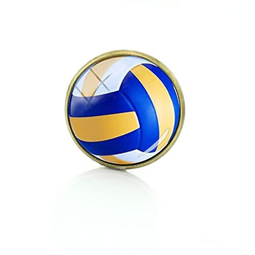 Pin de insignia con imagen de voleibol, exquisito, para mujer, para hombre, deportes, voleibol, arte, broches, alfileres, joyería