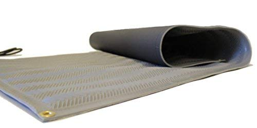 RHS Snow Melting Mat, Anti-Slip Walkway Herringbone Design, Color Gray, Outdoor Mat, Prevents ice Formation, Melts up to 2 inches of Snow per Hour, 120 Volts (30-inches x 10-feet)