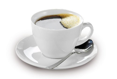 Esmeyer Kaffee-Tassen Bistro 0,20l mit Untertasse 12-teilig, Porzellan, Weiß, 31.5 x 18 x 12 cm