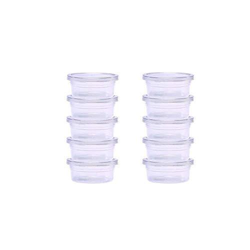 Da.Wa 10x Contenitori di immagazzinaggio Slime Contenitori di stoccaggio a Schiuma di Schiuma con coperchi plastica Trasparente Coppe