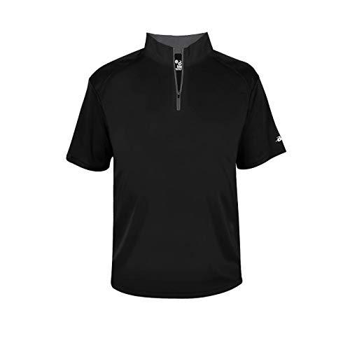 B-Core S/S 1/4 Zip Black/Graphite 4X-Large