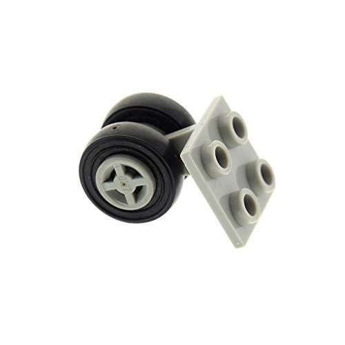 LEGO 1 x System Rad Achse alt-hell grau Platte 2x2 mit 2 Räder alt-hell grau für Flugzeug 6597 1687 6544 6482 4624 3139 4870c01