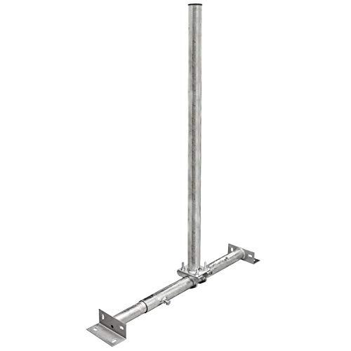 PremiumX Basic X100-48F SAT TV Teleskop-Dachsparrenhalter 100 cm Mast 48 mm Stahl voll feuerverzinkt Dach-Sparren-Halterung für Satelliten-Antenne Satellitenschüssel