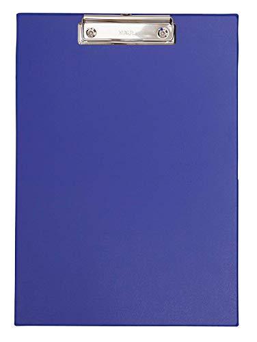 Maul 2335237 Schreibplatte Folienüberzug, Klemmbrett A4 Hoch, Blau, 1 Stück