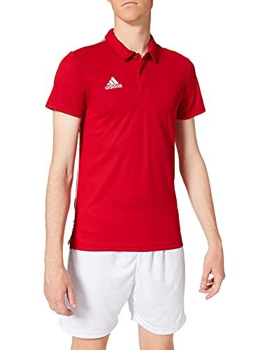 adidas CORE18 Camiseta Polo, Hombre, Power Red/White, L