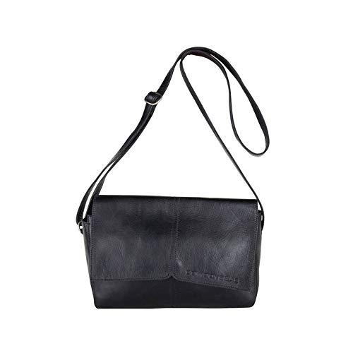Cowboysbag dames lederen tas schoudertas tas tas dale zwart 2200