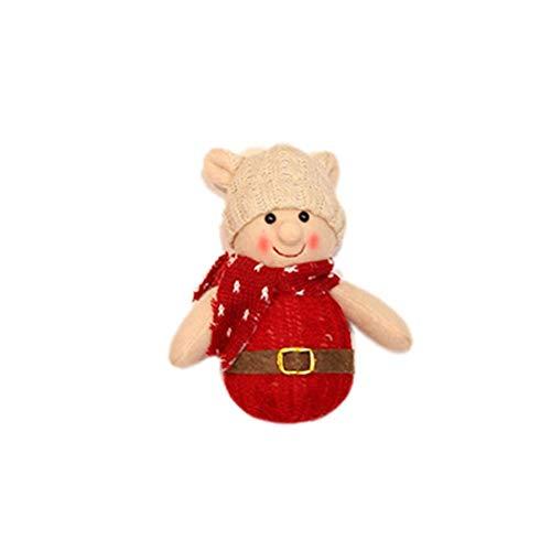 Brownrolly Kerstspop, kerstboom, hangend decoratie, voor binnen en buiten, tafel, open haard ornament, cadeaus, ondersteunt B