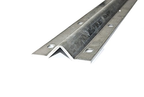 ALEKO VTRACK12FT 12 Feet Galvanized Gate V Track in 2 6 Foot Sections for Sliding Rolling Chain Rack Driveway Gate