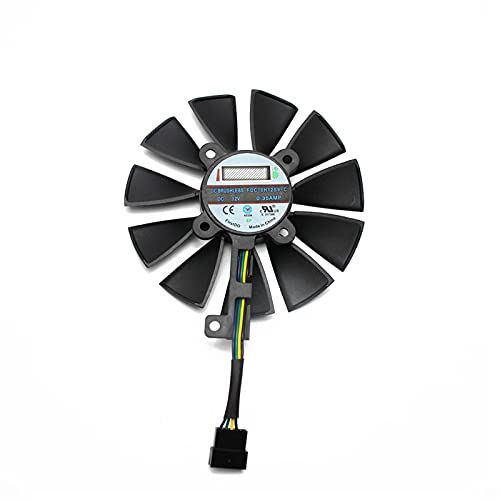 Price comparison product image 87MM FDC10U12S9-C FDC10H12S9-C For ASUS Dragon GTX 1070Ti RX VEGA64 GTX 1060 1070 1080 RX 480 580 Graphics Card Cooler Fan (Blade Color : 5PIN)