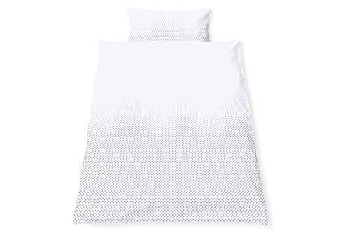 Pinolino 630042-8 Parure de lit réversible pour lit d'enfant « Running Stars », gris, 2 pièces, gris