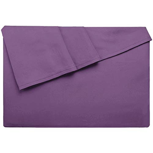 Lirex Bettlaken, Twin-Größe Hochwertige, Extra Weiche, Gebürstete Mikrofaser Flaches Blatt, Maschinenwäsche, Faltenfrei - Violett