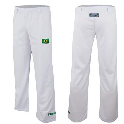 Bay Capoeira Hose weiß Uni (140 (XXS))