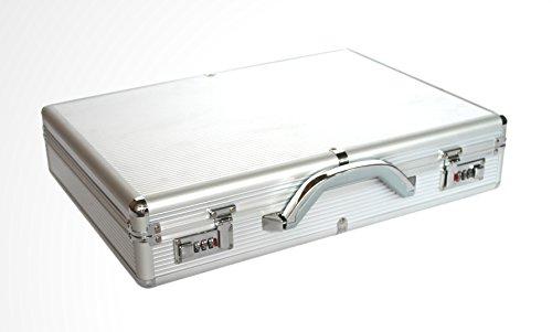 POINSETTIA Aluminium Laptop Aktenkoffer Notebookkoffer 44,5x31,5x7cm Silber