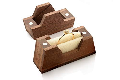 Ring-Box aus Holz für Verlobungsring | handgemachte kleine Ringschatulle