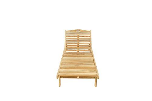 Ploß Outdoor furniture Archimedes Sonnenliege, Eco Teak Natur, 200 x 70 x 36 cm