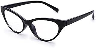 Jcerki Black Avant+garde Cat Eye Women Reading Glasses + 6.00 strength Women Fashion Readers EyeGlasses
