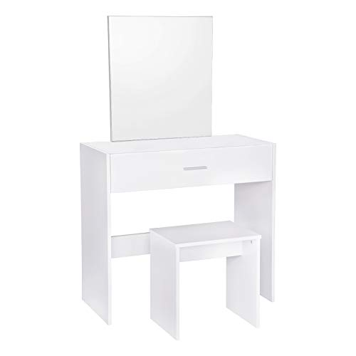 WOLTU MB6043ws Coiffeuse Table avec...