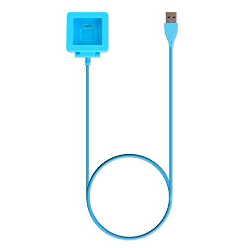 Cable de Carga USB Cargador para Fitbit Blaze Pulsera Reloj Inteligente - Azul