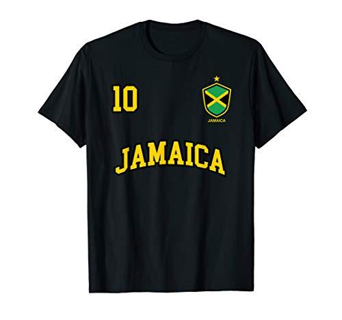 Jamaica Shirt Number 10 Soccer Team Sports Jamaican Flag