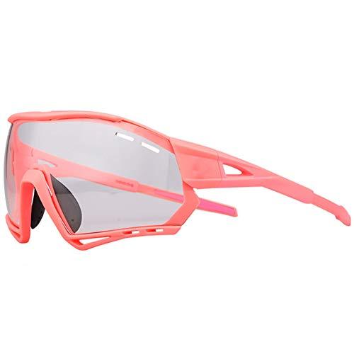 AEF Hombre Mujer Gafas Sol Deportivas Polarizadas Gafas De Ciclismo Viene con 3 Lentes Intercambiables Protección UV Protección Seguridad Gafas Usado para Ciclismo Pescar Conducir,6
