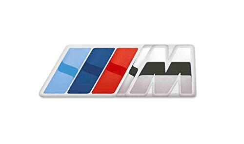 BMW Original M Logo Emblem Tonal Streifen Pin Spring Lock 80282410915 Silber