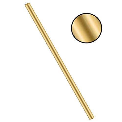 MHUI Messingstangen Messingmassiv Round Rod Lathe-Stab Stock Industrielle Rohstoffe Schweiß 11.8inches, Durchmesser:10mm/12mm,Diameter: 12 mm