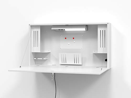 Hammerbacher Wandschreibtisch, platzsparend, ideal fürs Home Office/Arbeitszimmer, Mini-Büro...