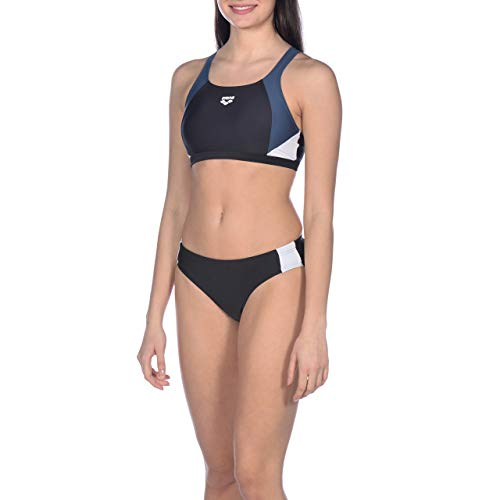 ARENA Damen Sport Bikini Ren, Black-Shark-White, 36