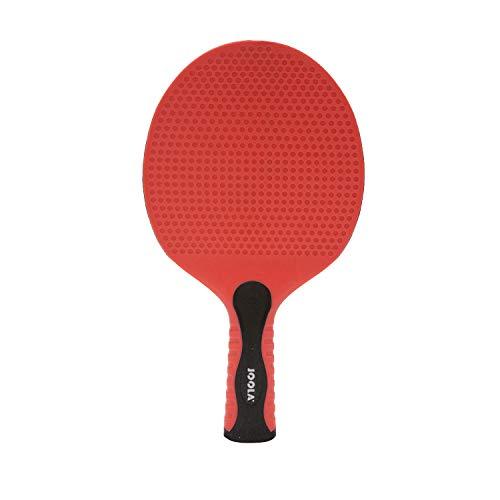 JOOLA Tischtennisschläger LINUS Outdoor Tischtennis-Schläger Wetterfeste Stabile Konstruktion Ergonomische Griff-Form, Rot