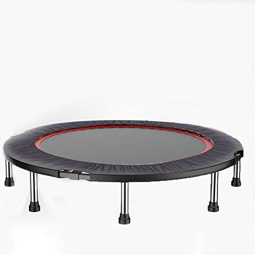 Indoor, courtyard, Upgraded version Adult mute trampoline gym, indoor home child jumping bed bouncing Cengceng small family bed, suitable for indoor home fitness (Color : Round)