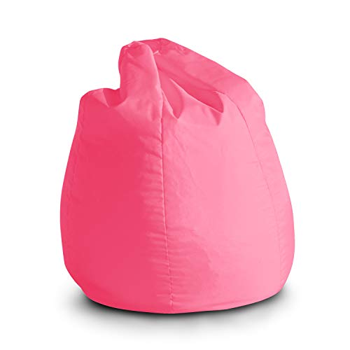 Avalon Pouf Poltrona Sacco per Bambini Bag Jive 65x65x90cm Made in Italy in Tessuto antistrappo Imbottito Colore Rosa