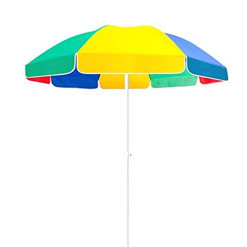Riyyow Paraguas Parasol Coloree Mercado Tabla Umbrella, Playa Oxford Playa Protección Solar Patio Paraguas para Uso Comercial y residencial, 7.2 pies