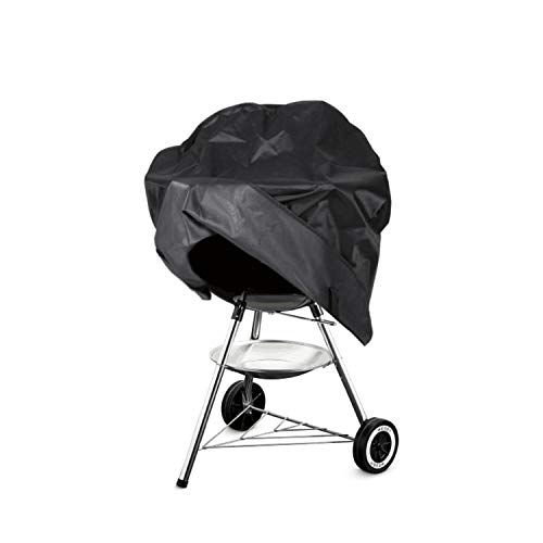 Grill Cover for Weber Round Grill Cover Water Proof Heavy Duty Outdoor Canvas BBQ Grill Cover Dome Smoker Cover 18 inch