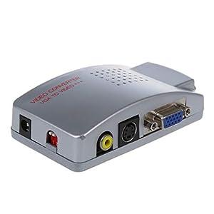 Cable Adaptador Conversor VGA S-Video 3 RCA para Proyector y TV ...