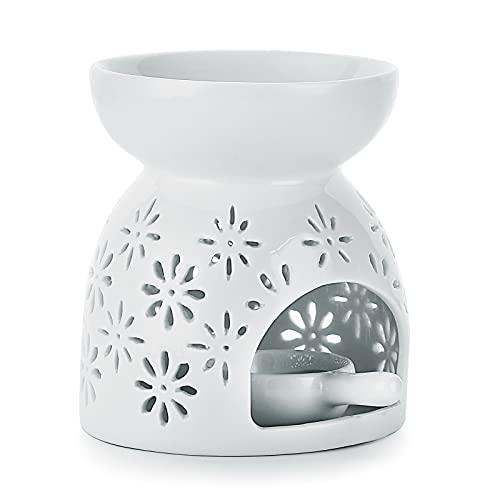 SUMTREE Quemador de cerámica con portavelas, diseño de fuegos artificiales