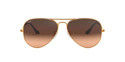 RB3025 Aviator Classic Gradient Sunglasses, Shiny Light Bronze/Pink/Brown Gradient, 55 mm