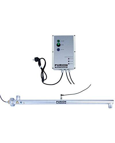 PURION 2500 Acondicionador de Agua UVC de 90 W, desinfección de Agua Potable con clarificador UV con Control de sensores