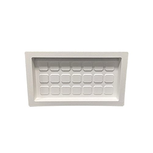 Crawl Space Recessed Foundation Vent Cover (for 8x16 Foundation Openings) (White)
