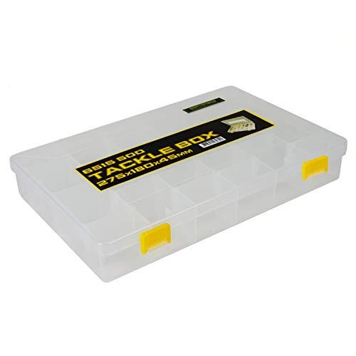 Spro Tackle Box 27,5x18x4,5cm - Angelbox für Kunstköder, Tacklebox für Wobbler, Gummifische & Blinker, Kunstköderbox, Köderbox