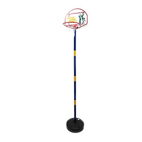 Mamatoy - Basketball Champion - Kit Complet de Basketball pour Enfants, Inclus: Panier avec Mât Ajustable jusqu'à 182 cm, Tableau des Points et la Base du Panier peut être Remplie avec de l'Eau ou du Sable - Idéal également dans le Jardin - Convient aux Enfants à partir de 3 ans