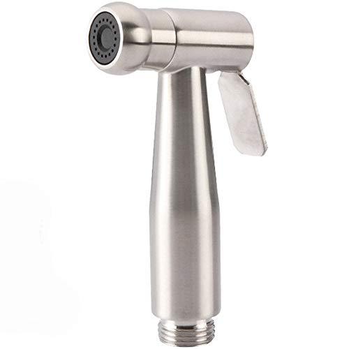Cabezal de ducha - Lluvia de alta presión - Aspecto de cromo moderno de lujo - Aspersor de boquilla grande a presión de gran tamaño Ducha pequeña - Cuerpo de acero inoxidable Todo salida agua anular